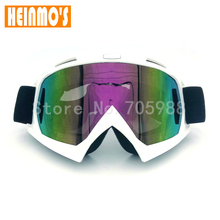 8 colors Frame motocross helmet goggles motor cross dirtbike motorcycle helmets goggles glasses eyewear Color Lens(China)