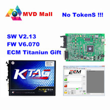 Newest Ktag V2.13 Main Unit Master Version No Token Limits Firmware V6.070 Ktag K-tag ECU Programming Tool For Car Truck Tractor