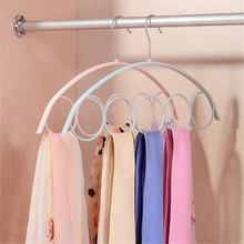 1Pcs 5Hole Ring Rope Slots Holder Hook Scarf Wraps Shawl Storage Hanger Ring Ties Hanger/Belt Rack/Scarves Organizer Holder Hook(China)
