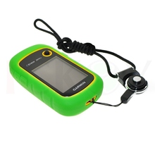 Hiking Handheld GPS Protect Green Silicon Rubber Case + Black Detachable Ring Neck Strap for Garmin eTrex 10 20 30 10x 20x 30x
