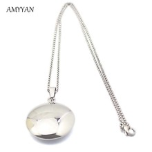 Free Shipping Best Sale 316l Stainless Steel Round Locked Pendant Ball Shape Floating Pendant Necklace Factory Custom 2016(China)