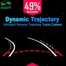 Intelligent Dynamic Trajectory Tracks Rear View Camera HD CCD Reverse Backup Camera Auto Reversing Parking Assistance(China)