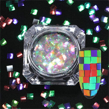BORN PRETTY 2g Colorful Nail Sequins Heart Star Round Butterfly Square Holographic Nail Flakes Glitter Paillettes Nail Art Dust