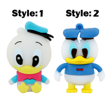 Cartoon Pen drive Donald Duck USB Flash Drive 32gb 16gb 8gb 4gb Pendrive 64gb Memory stick U Disk flash card