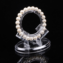 20pcs/lot Cheap Plastic Bracelet Display Stand  Ankle Showing Rack Jewelry Holder Showcase + 20PCS Clear Rings