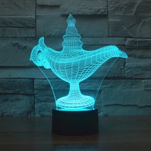 3d Lamp ALASD Magic Aladdin Lamp 7 Color Change Best Gift Night Light LED Furnish Desk Table Lighting Home Decoration Toys