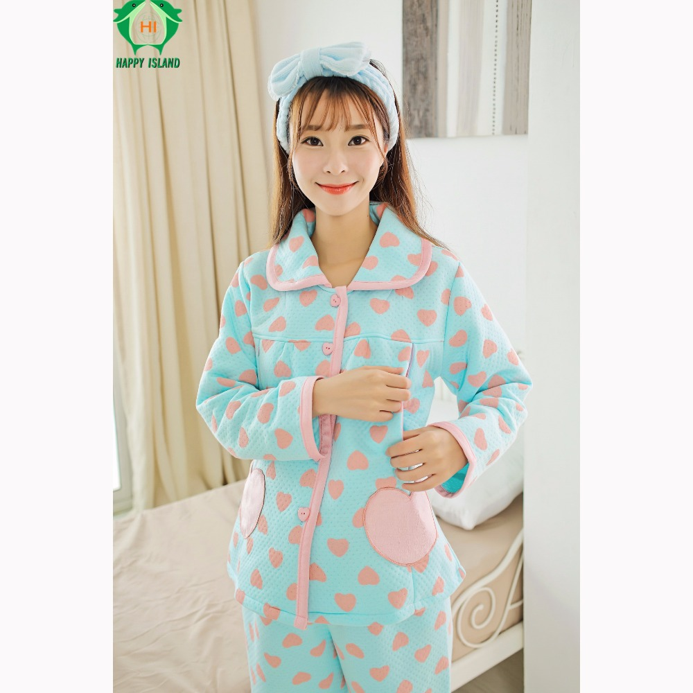 HAPPYISLAND Femme Enceinte Pajamas Winter Maternidade Breastfeeding  Pajamas Women Hamile Gecelik Vestidos Pijama for Pregnancy <br>