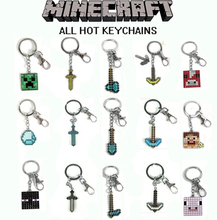 New Minecrafter Toys Minecraft Game Steve Alex Enderman Creeper Ender Dragon Pig Metal Necklace Metal Key Chain Child's Gift