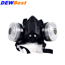 DEWBest Gas Masks protective respirator against painting dust storms formaldehyde pesticides spraying mask free shipping(China)