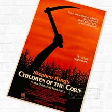 Stephen King's Children of the Corn Horror Film Vintage Retro Kraft Poster Decorative DIY Wall Sticker Home Bar Art Poster Decor