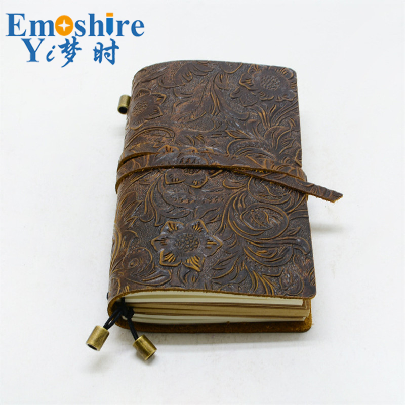 Classic Business Leather Notebook Cowhide cover Refillable Journal Diary Handmade Traveler Notebook free shipping N127<br>