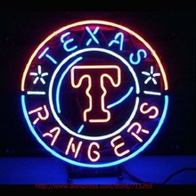 Texas Rangers Baseball Neon Sign Neon Bulbs Led Sign Real Glass Tube Room Restaurant Hotel Decorative Store Display Attract19x19