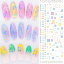 Fashion Korea Water Transfer Stickers 1 Sheets 3D Design DIY Nail Art Decorations Nail Sticker Nail Decal Nail Tools DS01-06