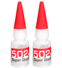 2pcs/lot 502 Super Glue Instant Quick-drying Cyanoacrylate Adhesive Strong Bond Fast Leather Rubber Metal 8g Free Shipping(China)