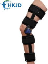 Orthopedic Knee Support Knee Orthosis Hinged ROM Knee Brace Angle Adjustable Stabilizer Wrap Sprain Post-Op Hemiplegia Flexion(China)