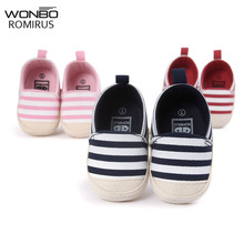Soft Bottom Fashion Baby Moccasin Newborn Babies Shoes PU Leather Prewalkers Boots Fashion Gingham First Walkers for Kids(China)
