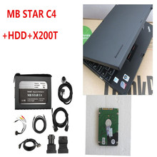 A+++ quality Newest Mb Star C4 for Trucks and Cars With V2017.05 Software and Used X200T Laptop SD Coneect C4 Diagnostic Tools(China)