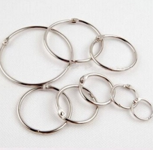 10 Pcs/set Creative Promotion Price Metal Loose Leaf Book Binder Hinged Rings Keychain Album Scrapbook Craft(China)