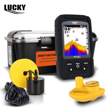 LUCKY FF718LiC 328ft /100m depth Fishfinder Sonar Transducer 2-in-1 Wired & Wireless Sensor Portable Waterproof Fish Finder(China)