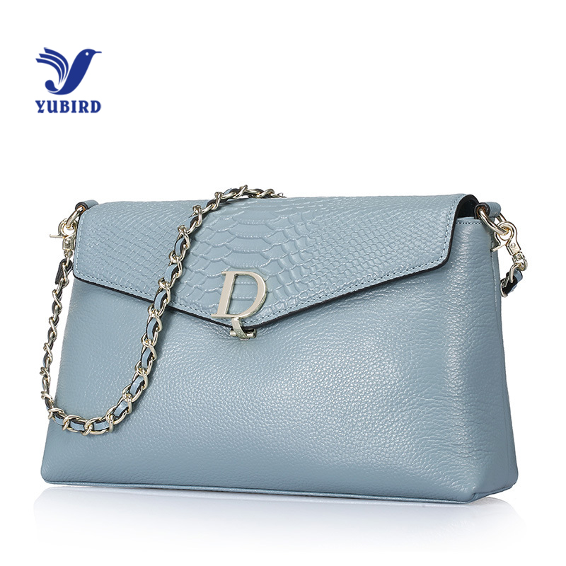 YUBIRD Fashion Genuine Leather Bag Womens Bag Envelope Chain Bag Famous Brand Designer Letter Serpentine Shoulder Bag Sac Chaine<br>