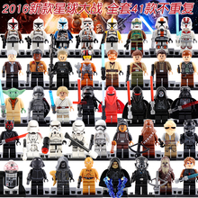 Single Figures Star War Darth Vader R2D2Leia Boba Fett Clone Trooper Kylo Ren XH Mini Blocks Building XINH Toys(China)