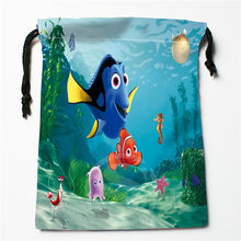 New Custom Finding Nemo Drawstring Bag Organizer Storage Bags Printed Receive Bag Compression Type Bags 18X22cm(China)