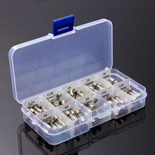 100Pcs 5x20mm Electrical Fuse Amp Fast-blow Glass Tube Fuse Box