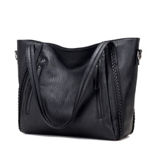 New Pochette Luxury Black Shoulder Bag Women Handbags Designer High Quality Famous Brands Leather Casual Tote Sac A Main Handbag(China)