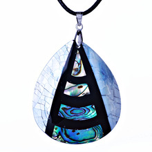 Fashion Jewelry Natural New Zealand Abalone Shell Pendant Choker Necklace for women men