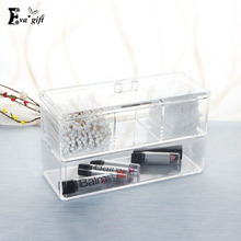 Crystal Acrylic Cosmetic makeup Organizer box for girl Cosmetic storage box Makeup case with lid Jewelry Display Organizer Case(China)