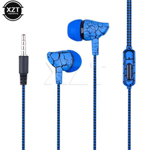 PZ Jack Wired Earphone Headset Super Bass Crack Headphone Earbud with Microphone Hands Free Headphone for Phone MP3 MP4 3.5mm(China)