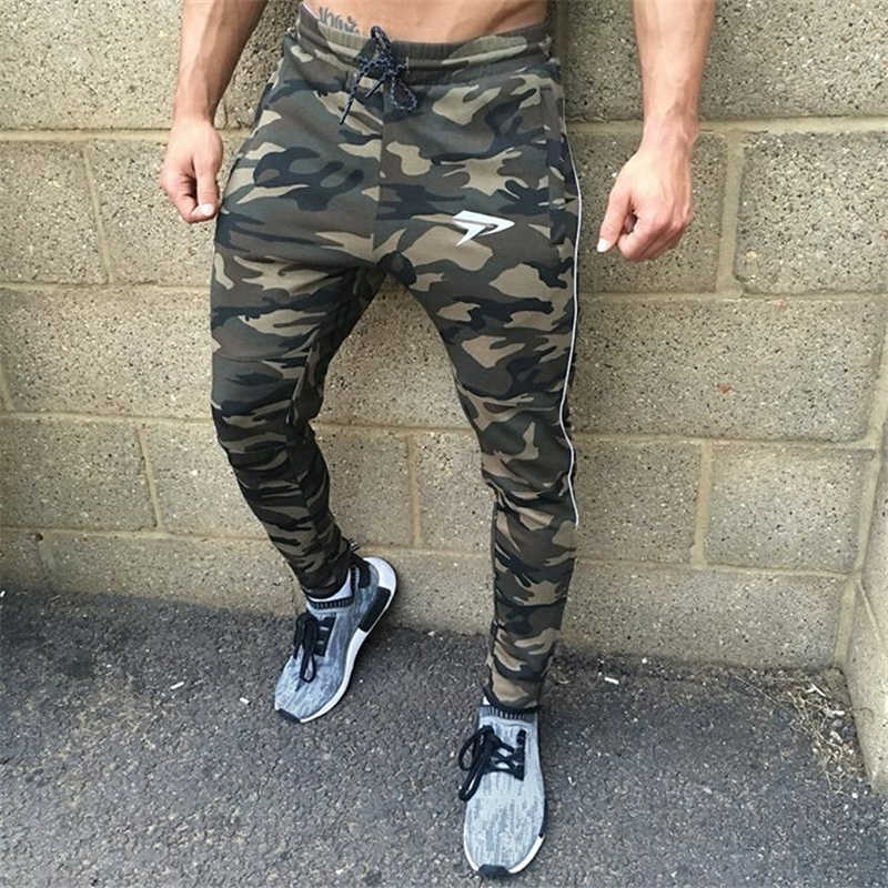 GYMOHYEAH NEW pants Men's High quality workout bodybuilding clothing casual camouflage sweatpants joggers pants skinny trousers 8