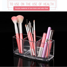 2017 New Creative Acrylic Clear Storage Holder Box Cosmetic Makeup Brush and Accessory Organizer Case(China)