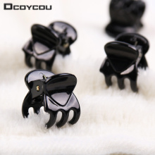 24 PCS Fashion Women Girls Hair Accessories Black Plastic Mini Hairpin 6 Claws Hair Clip Clamp