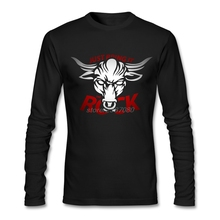 New Dwayne Johnson The Rock Bull Just Bring It Tee Shirt Youth Cotton Shirts Online Cheap Wholesale Full Sleeve Men's Tee Shirts(China)