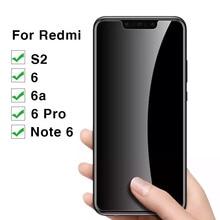 Protective Glass Xiaomi Redmi Note 6 Pro 6a S2 Tempered Glas Screen Protector Ksiomi Red Mi S 2 2s A6 6pro Note6 9h