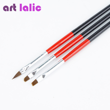 1Set/3PCS Soft and Professional Pen UV Gel Drawing Painting Nail Art Brushes Manicure Nail Tools