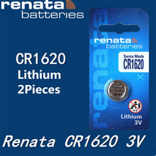2Pcs/lot renata CR1620 CR 1620 3v Lithium Battery Remote control battery car remote battery Scales , motherboard battery