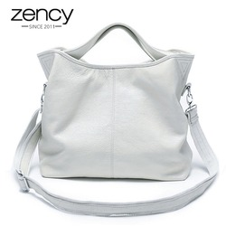 Женская повседневная вместительная сумка-мессенджер из 100% натуральной кожи