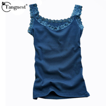 TANGNEST Women Sleeveless Summer Lace Sexy Tops 2016 New Fashion Multicolors Strap Tank 16 Colors WBX122(China)