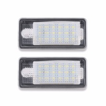 2pcs Car License Plate Light 18 LEDs CAN-bus Error Free Lamp For Audi A3 A4 A6 S6 A8 Q7