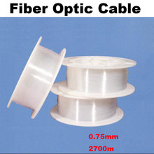 Plastic fiber optic cable material led fibre optic light cable Line end grow 2700m long roll 0.75mm diameter warranty 2 years