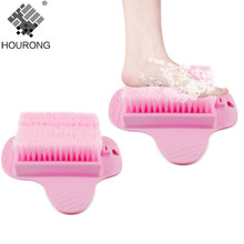 1Pc Plastic Feet Cleaning Brush Easy Feet Foot Massager Brush Cleaner Creative Sucker Designer Shower Brush Bathroom Accessories(China)