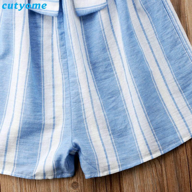 Mother Women And Daughter Girl Matching Clothes Striped Overalls Dress One-pieces Jumpsuits For Mommy And Me Family Outfits (17)