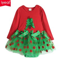 IYEAL Christmas Baby Girl Rompers Princess Kids Newborn Clothes Long Sleeved Spring Autumn Children Infant Clothing Set