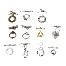 Buy 5set/lot Wholesale Antique Bronze Round/Flower Toggle Clasps Chain End Connectors DIY Bracelets Jewelry Findings Hooks for $1.55 in AliExpress store