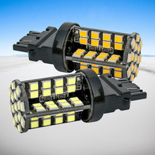 2pcs 3157 3156 led High Power 79 SMD 2835 LED Amber Yellow Turn Signal White P27W T25 car bulbs Red P27/7W Car Light Source lamp