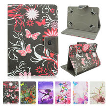 Universal 10 inch Tablet case For Prestigio MultiPad PMT5021 3G 10.1 inch Flip Stand leather Cover +Center Film+pen KF492A