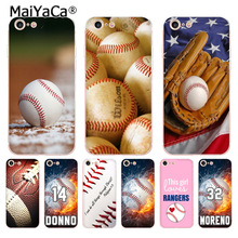 MaiYaCa Baseball sports soft tpu phone accessories case cover for Apple iPhone 8 7 6 6S Plus X 5 5S SE 5C 4 4S case funda coque(China)