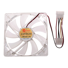 Blue LED Cooling Fan 4pin Hydraulic Bearing LED Computer Case Fan for PC Computer 120 x 120mm